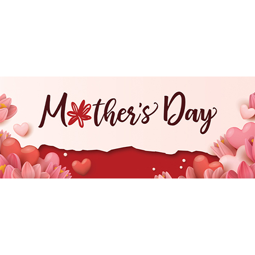 Mother's Day Hearts PVC Party Sign Decoration 60cm x 25cm Product Image