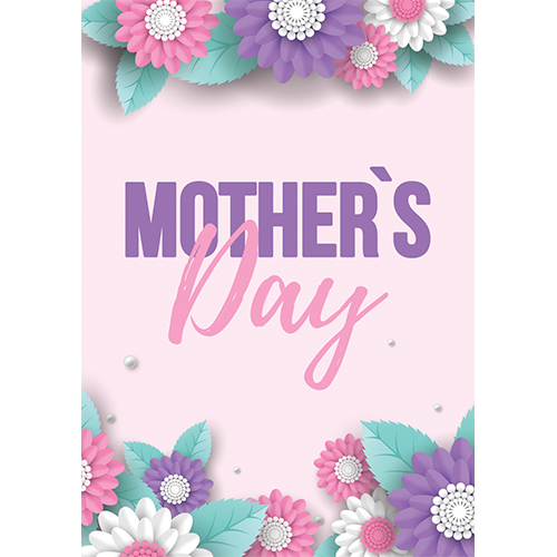 Mother's Day Pink and Purple A3 Poster PVC Party Sign Decoration 42cm x 30cm Product Gallery Image