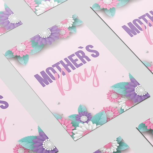 Mother's Day Pink and Purple A3 Poster PVC Party Sign Decoration 42cm x 30cm Product Image