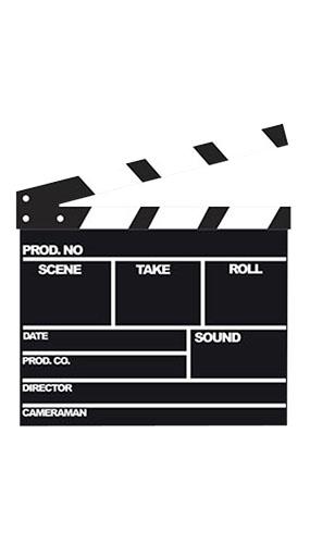 Movie Clapperboard Lifesize Cardboard Cutout - 107cm