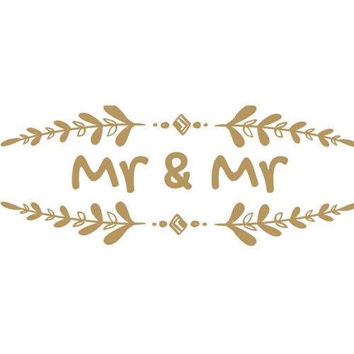 Mr & Mr Branch Wedding PVC Party Sign Decoration 60cm x 25cm Product Image