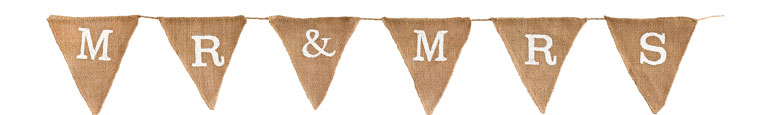 Mr & Mrs Natural Hessian Bunting 1.8m Product Image