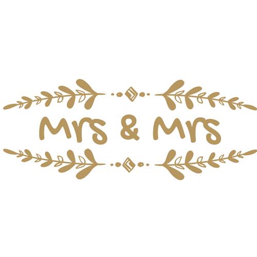 Mrs & Mrs Branch Wedding PVC Party Sign Decoration 60cm x 25cm Product Image