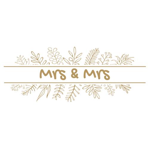 Mrs & Mrs Foliage Wedding PVC Party Sign Decoration 60cm x 25cm Product Image