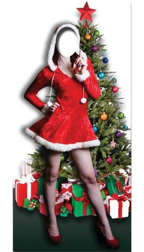 Mrs Christmas Stand In Cardboard Cutout - 183cm