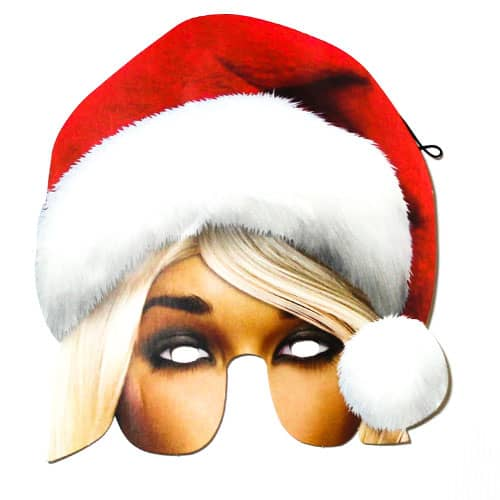 Mrs Claus Christmas Cardboard Face Mask Product Image