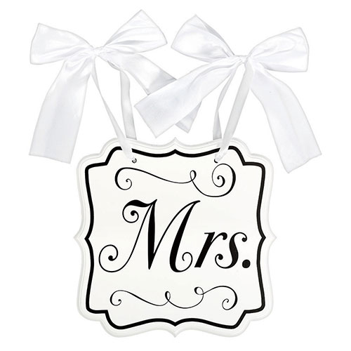 Mrs MDF Chair Wedding Sign 24cm