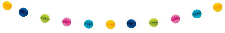 Multi-Colour Honeycomb Ball Garland 213cm Product Image