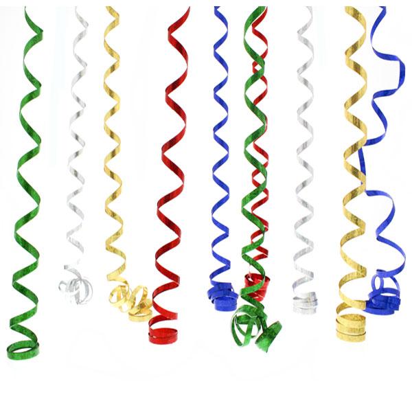 Multi Colour Prismatic Serpentines - 10 Throws