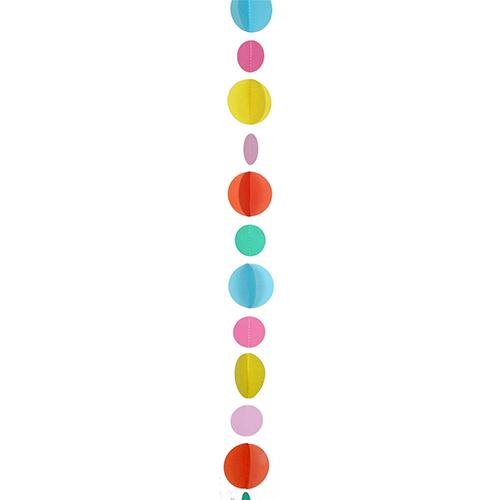 Multicolour Circles Fun String Balloon Tail 120cm Product Image