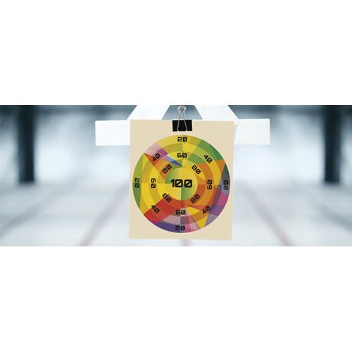 Multicolour Nurf Target PVC Party Sign Decoration 60cm x 25cm Product Image