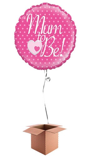 Mum To Be Round Foil Balloon - Inflated Balloon in a Box Product Image