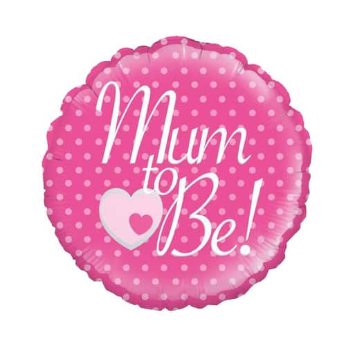 Mum To Be Round Foil Helium Balloon 46cm / 18Inch Product Image