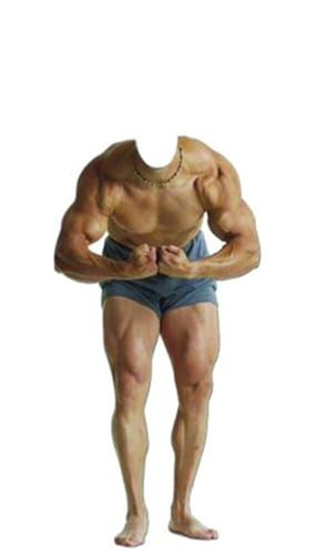 Muscle Man Stand In Cardboard Cutout - 183cm Product Image