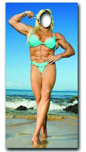 Muscle Woman Stand In Cardboard Cutout - 186cm Product Image