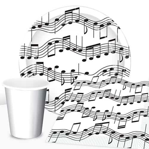 Musical Notes 8 Person Value Party Pack Product Image