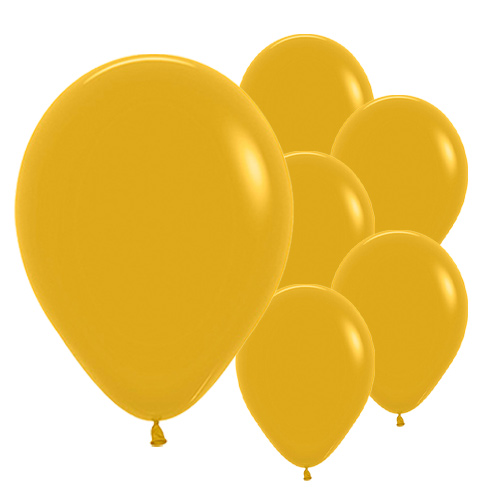 Mustard Yellow Biodegradable Latex Balloons 30cm / 12 in - Pack of 50