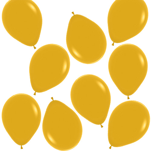 Mustard Yellow Biodegradable Mini Latex Balloons 13cm / 5 in - Pack of 100