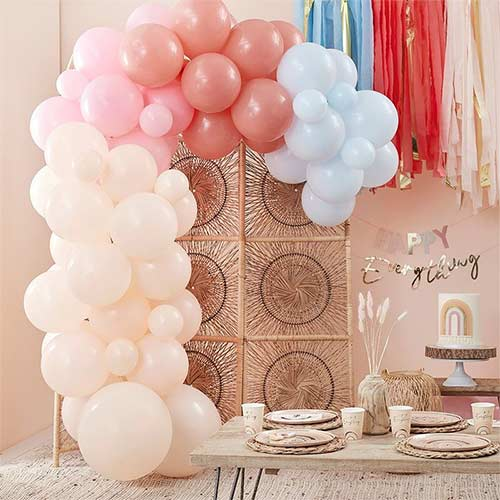 Muted Pastel DIY Garland Balloon Arch Kit