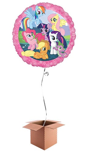 My Little Pony Round Foil Balloon - Inflated Balloon in a Box Product Image