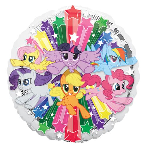 My Little Pony Gang Round Foil Helium Balloon 43cm / 17Inch Product Image