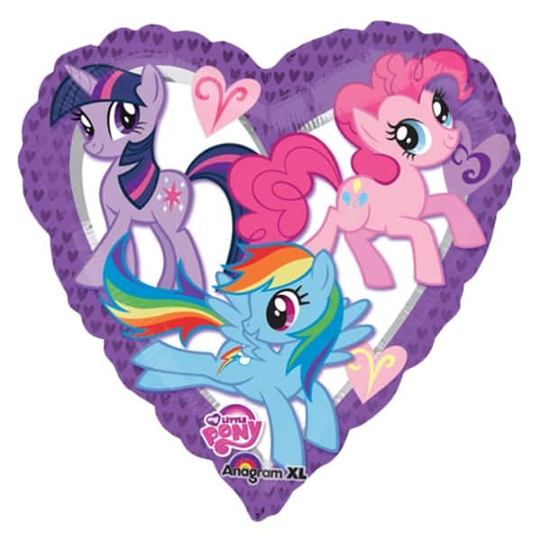 My Little Pony Heart Shape Foil Helium Balloon 46cm / 18Inch Product Image
