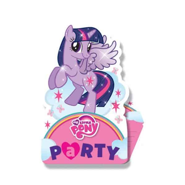 My Little Pony Invitations with Envelopes - Pack of 8