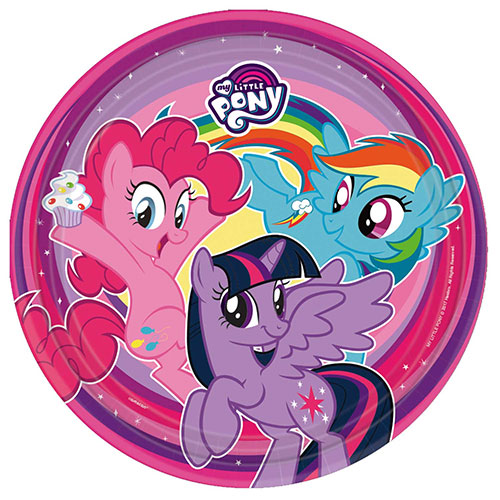 My Little Pony Round Paper Plates 23cm - Pack of 8