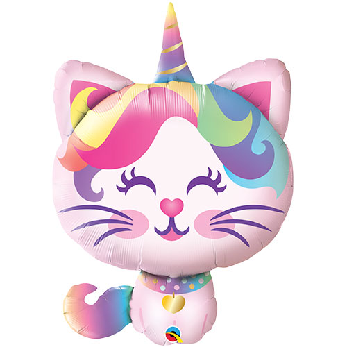 Mythical Caticorn Helium Foil Giant Qualatex Balloon 97cm / 38 in