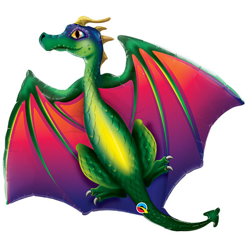 Mythical Dragon Helium Foil Giant Qualatex Balloon 114cm / 45 in Product Image
