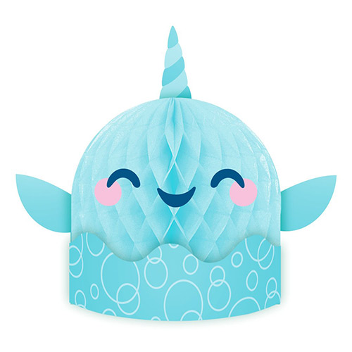 Narwhal Party 3D Centrepiece Table Decoration 35cm