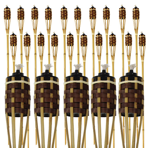 Natural And Brown Bamboo Torch 120cm - Pack of 25 Product Image