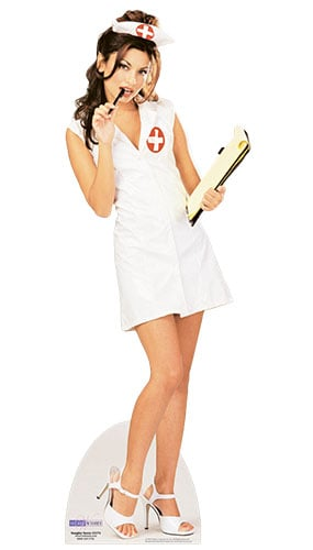 Naughty Nurse Lifesize Cardboard Cutout - 171cm Product Image