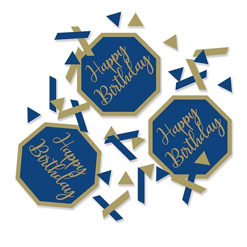 Navy & Gold Geode Foiled Happy Birthday Table Confetti 14 Grams