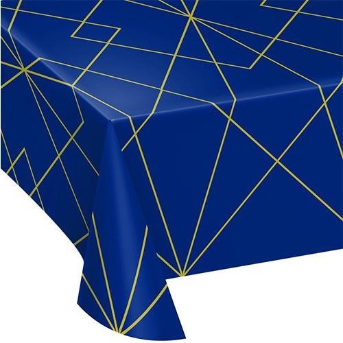 Navy & Gold Geode Plastic Tablecover 259cm x 137cm Bundle Product Image