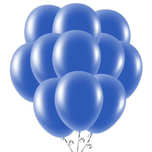 Navy Blue Latex Balloons 23cm / 9Inch - Pack of 50 Product Image