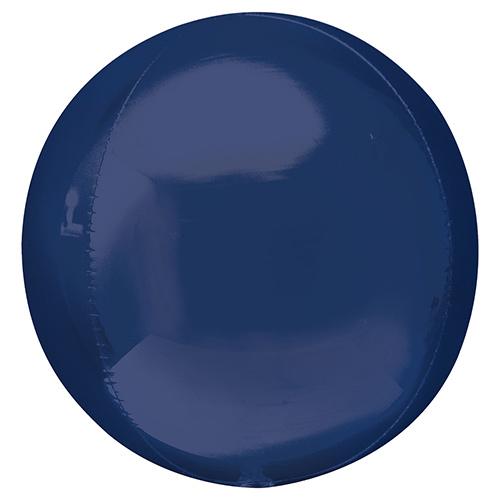 Navy Blue Orbz Foil Helium Balloon 38cm / 15 in