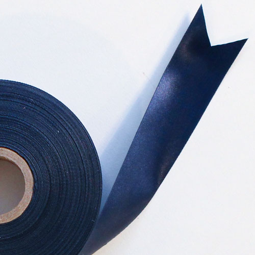 Navy Blue Satin Faced Ribbon Reel 25mm x 50m