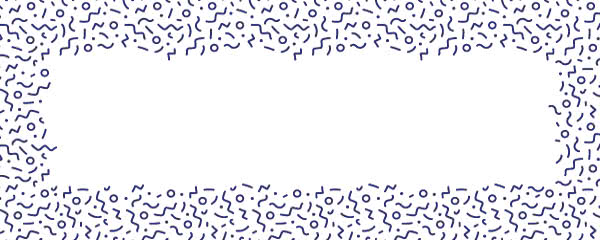 Navy Blue Squiggle Design Medium Personalised Banner - 6ft x 2.25ft