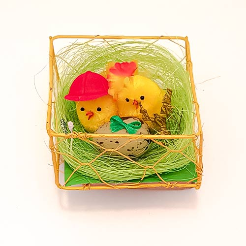 Nest With Chicks and Egg Easter Decoration Product Image