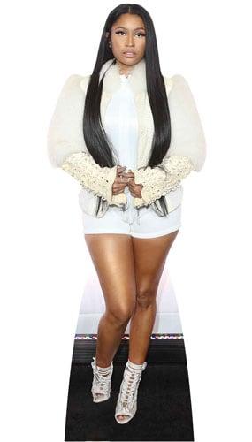Nicki Minaj White Fur Jacket Lifesize Cardboard Cutout 163cm Product Image