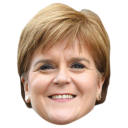 Nicola Sturgeon Cardboard Face Mask Product Image