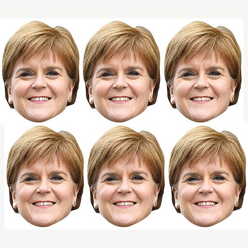 Nicola Sturgeon Cardboard Face Masks - Pack of 6 Product Image