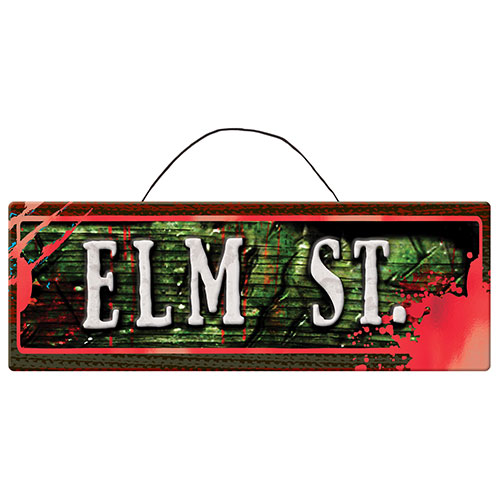 Nightmare on Elm St. Metallic Halloween MDF Hanging Sign 38cm Product Image