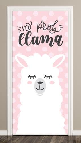 No Prob Llama Door Cover PVC Party Sign Decoration 66cm x 152cm Product Image