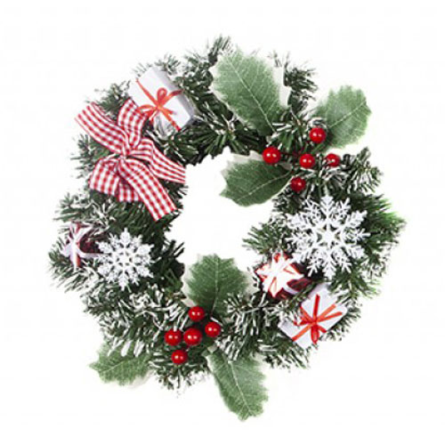 Nordic Wreath Christmas Decoration 25cm