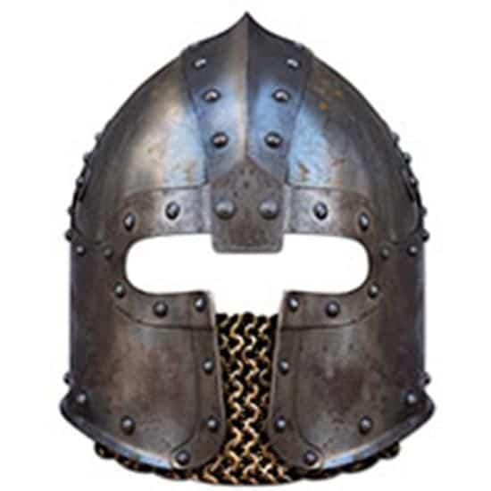 Norman Soldier Helmet Cardboard Face Mask