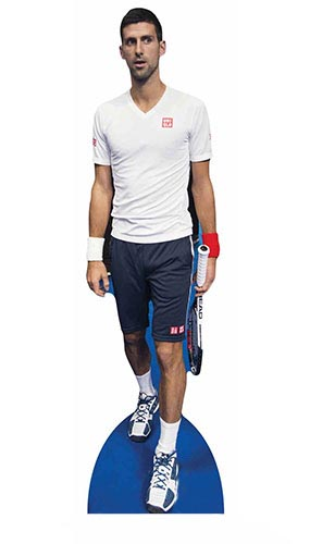 Novak Djokovic Lifesize Cardboard Cutout - 186cm Product Image