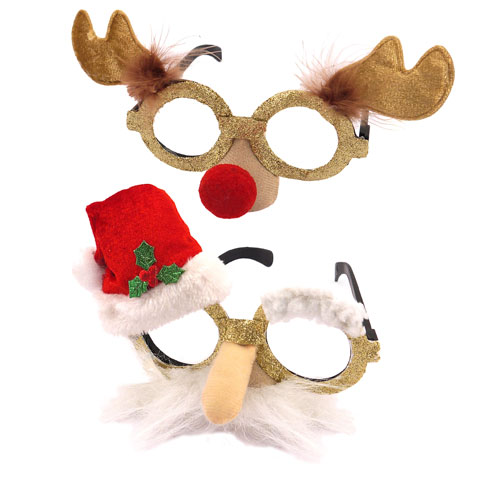 Assorted Novelty Glasses Adults Christmas Fancy Dress