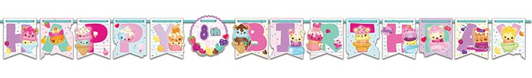 Num Noms Happy Birthday Letter Banner 320cm Product Image